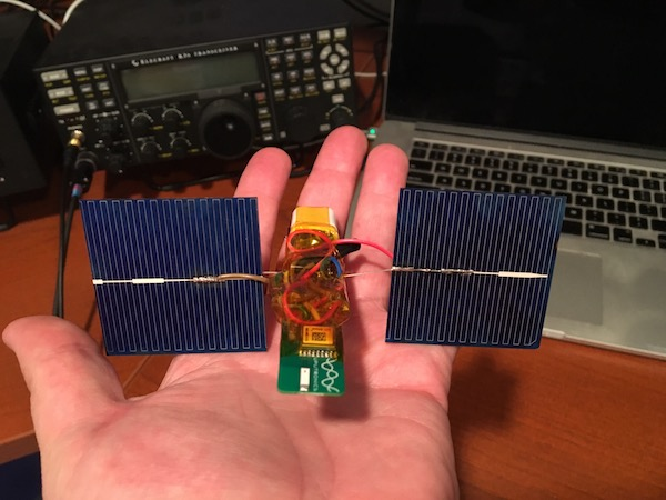 Photo of the payload in my hand.